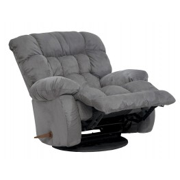 Teddy Bear Graphite Swivel Glider Recliner