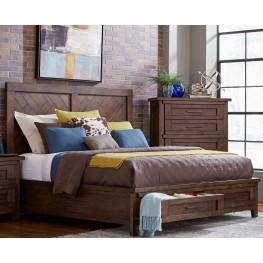 Pieceworks Cal. King Panel Storage Bed