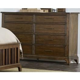 Mill Creek Brown 8 Drawer Dresser