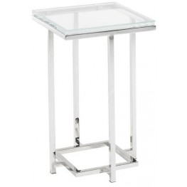 Mirage Stanwyck Glass Top Accent Table