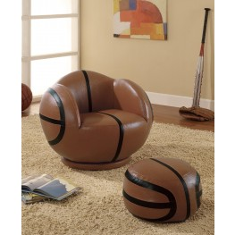Brown Small Basketball Chair 460176