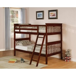 Parker Cappuccino Twin Over Twin Bunk Bed 460231