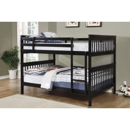 Black Full over Full Bunk Bed