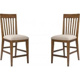 Winslow Park Cafe Upholstered Counter Stool Set of 2