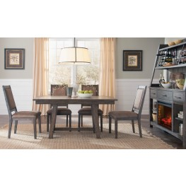 Stone Brook Rustic Saddle Dining Room Set