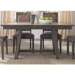 Stone Brook Rustic Saddle Trestle Dining Table