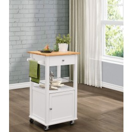 Kady White Kitchen Cart