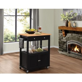 Denham Black Kitchen Cart