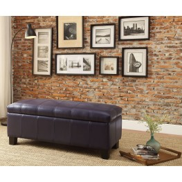 Clair Purple Lift Top Storage Bench