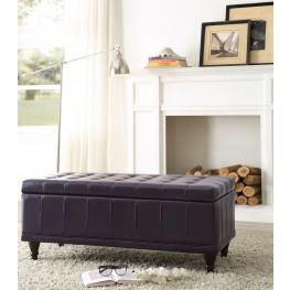 Afton Purple Lift Top Storage Bench