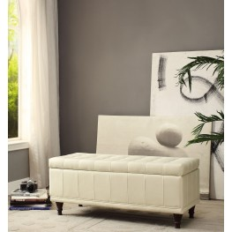 Afton Taupe Lift Top Storage Bench