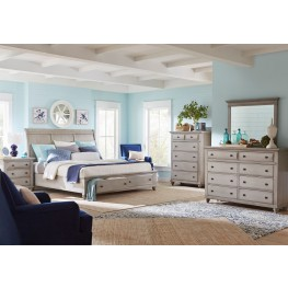 Kearsley Mineral Gray Sleigh Storage Bedroom Set