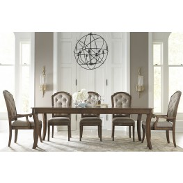 Amelia Antique Toffee Extendable Dining Room Set
