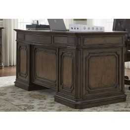 Amelia Antique Toffee Jr Executive Desk
