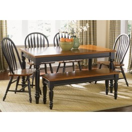 Low Country Black Extendable Dining Room Set