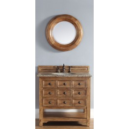 "Malibu 36"" Honey Alder Single Vanity With 4Cm Black Granite Top"