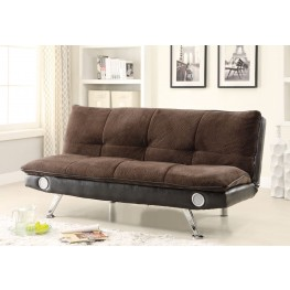 Braxton Velvet Brown Sofa Bed