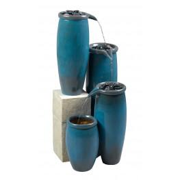 Agua Blue Glaze Indoor/Outdoor Floor Fountain