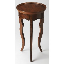 Plantation Cherry Sophia Olive Ash Burl Round Accent Table