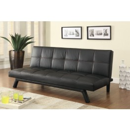 500765 Black With Red Stitching Sofa Bed