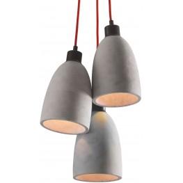 Fancy Concrete Gray Ceiling Lamp