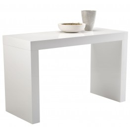 Faro White High Gloss C-Shape Counter Table