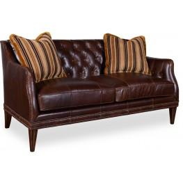 Kennedy Walnut Leather Settee