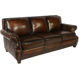 Prato Cocoa Brompton Leather Sofa