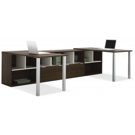 Contempo Tuxedo Two L-Shaped Desks Set