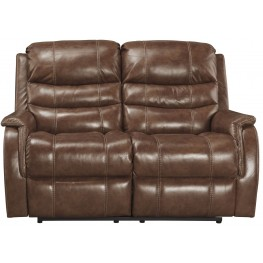 Metcalf Nutmeg Power Reclining Loveseat