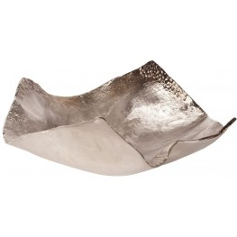 Champagne Silver Hammered Large Bowl
