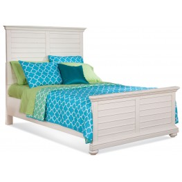 Pathways White Twin Panel Bed