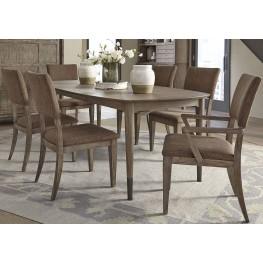 Miramar Dining Brown Oval Leg Dining Room Set