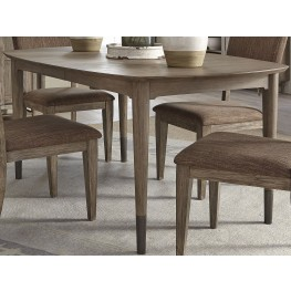 Miramar Brown Oval Leg Dining Table