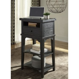 Aspen Skies Wire Brushed Black Laptop Desk