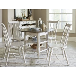 Oak Hill Gray and Brown Extendable Drop Leaf Dining Room Set