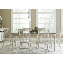 Oak Hill Gray and Brown Extendable Rectangular Leg Dining Room Set