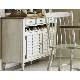 Oak Hill Tan Smoke & Antique White Server