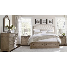 Wethersfield Estate Brimfield Oak Upholstered Storage Bedroom Set