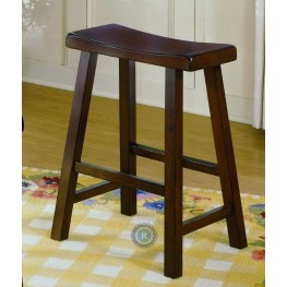 "Saddleback Cherry 18"" Cherry Stool"