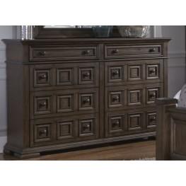 Lucca Brown 8 Drawer Dresser