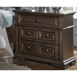 Lucca Brown 3 Drawer Nightstand