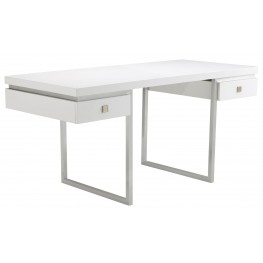 Bentley High Gloss White Desk
