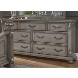 Messina Estates Gray 7 Drawer Dresser