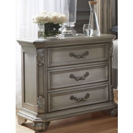 Messina Estates Gray 3 Drawer Nightstand