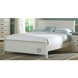 Marianne White Cal. King Sleigh Bed