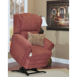 Abby Wine Wall-a-way Reclining Lift Chair With lumbar Pillow