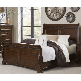 Schleiger Burnished Brown Cal. King Sleigh Bed