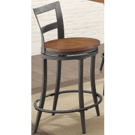 Selbyville Cherry Swivel Counter Height Chair Set of 2