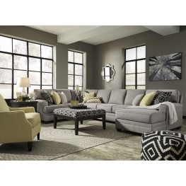 Cresson Pewter RAF Large Chaise Sectional